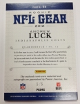 Panini America 2012 National Treasures Football Andrew Luck (10)