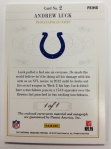 Panini America 2012 National Treasures Football Andrew Luck (25)