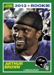 2013 Score Arthur Brown