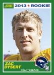 2013 Score Zac Dysert