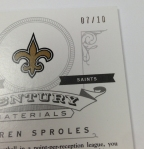 Panini America 2012 National Treasures Football QC Case (48)