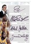 2012-13 National Treasures Basketball Lakers Quad