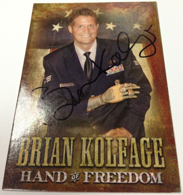 Panini America 2013 Father's Day Brian Kolfage Front