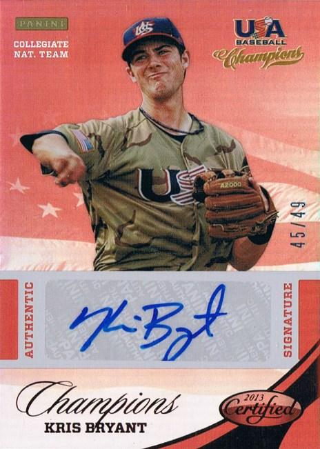 Panini America USA Baseball Kris Bryant