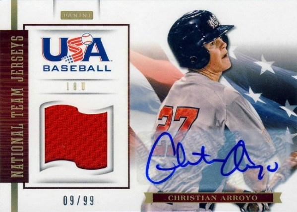 Panini America USA Baseball Reese Christian Arroyo
