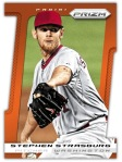 2013 Prizm Baseball Strasburg Orange Die-Cut