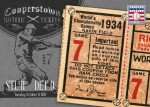 Panini America 2013 Cooperstown Baseball Historic Tickets 10