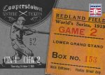 Panini America 2013 Cooperstown Baseball Historic Tickets 2