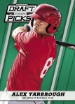 2013 Prizm Perennial Draft Picks Baseball Yarbrough Green