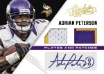 Panini America 2013 Absolute Football Peterson Plates Patches