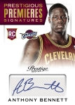 2013-14 Prestige Basketball Anthony Bennett Auto