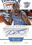 2013-14 Prestige Basketball Kevin Durant Distinctive Ink