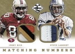 2013 Limited Football Matching Numbers Rice Largent