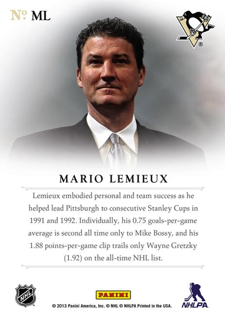 Mario Lemieux Expo Passport Back