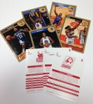 Pack 4 Gold Borders & Red Backs