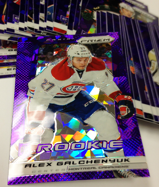 Panini America 2013-14 Prizm Hockey Purple Cracked Ice (42)