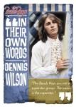Panini America 2013 Beach Boys Dennis Wilson In Their Words