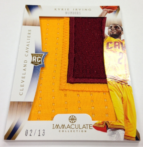 Panini America 2012-13 Immaculate Kyrie Number