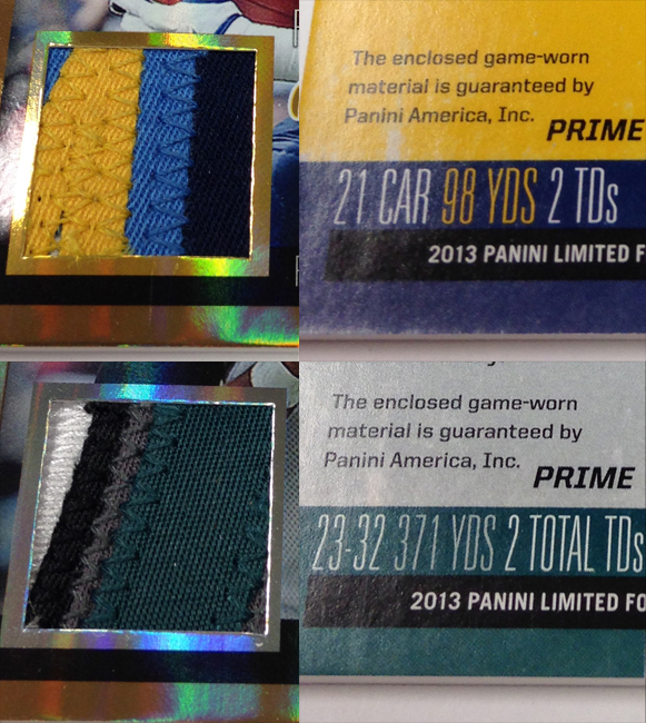 Panini America 2013 Limited Football Game Day Materials Main