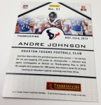 Panini America 2013 Totally Certified Football Thanksgiving (2)