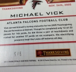 Panini America 2013 Totally Certified Football Thanksgiving (71)