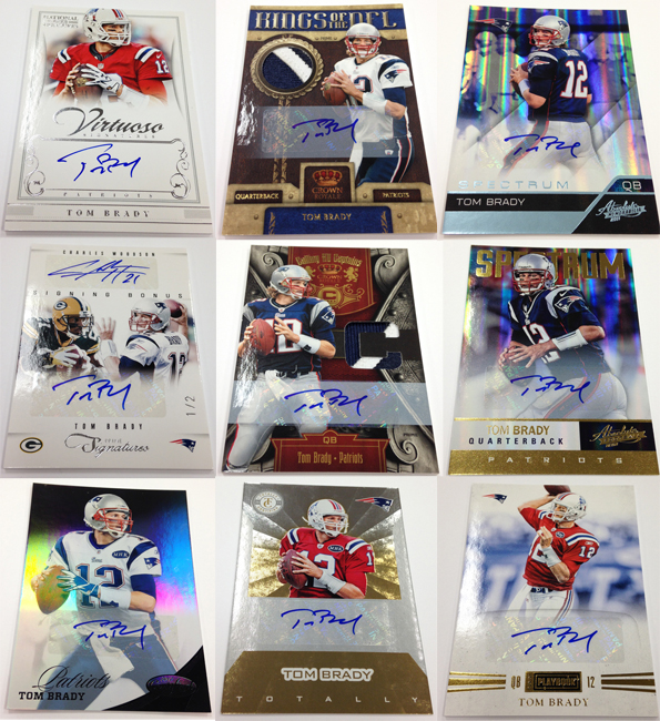 Panini America Tom Brady Signs! Main