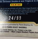 Panini America 2013 Select Baseball Teaser (45)
