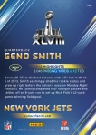 New York Jets Panini America Super Bowl XLVIII Collection Back (1)