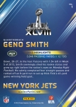 New York Jets Panini America Super Bowl XLVIII Collection Back (1)