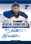 Panini America 2013-14 Social Signatures Brian Elliott