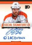 Panini America 2013-14 Social Signatures Claude Giroux