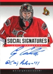 Panini America 2013-14 Social Signatures Craig Anderson