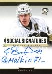 Panini America 2013-14 Social Signatures Evgeni Malkin