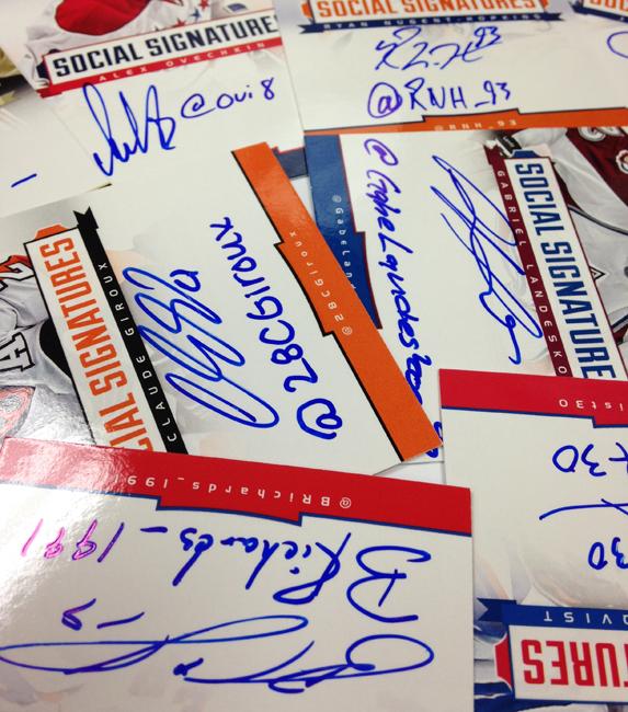 Panini America 2013-14 Social Signatures Main