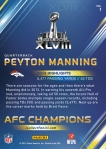 Panini America Denver Broncos Super Bowl XLVIII Collection Back (1)