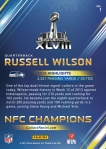 Panini America Seattle Seahawks Super Bowl XLVIII Collection Back (1)