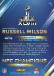 Panini America Seattle Seahawks Super Bowl XLVIII Collection Back (1)