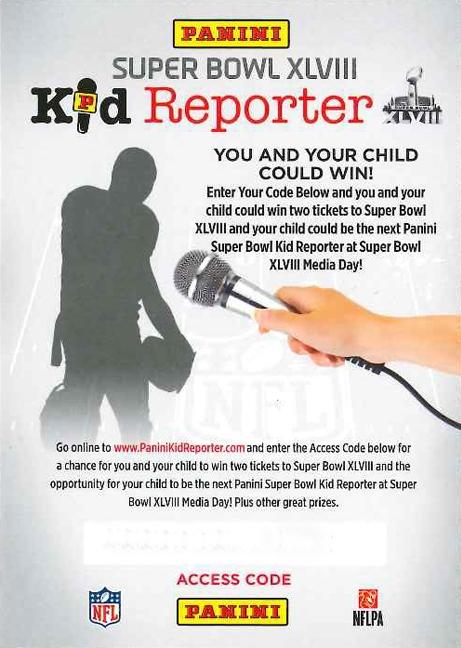 Super Bowl Kid Reporter Promo Card