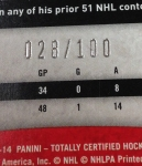 Panini America 2013-14 Totally Certified Hockey Teaser (11)