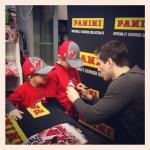 Panini America 2014 Adam Henrique Signing (22)