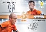 Panini America 2014 FIFA World Cup Brazil Prizm van Persie Robben