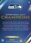 Panini America Seattle Seahawks Super Bowl XLVIII Champions (12a)