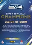Panini America Seattle Seahawks Super Bowl XLVIII Champions (13a)