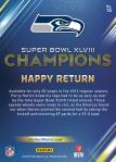 Panini America Seattle Seahawks Super Bowl XLVIII Champions (15a)