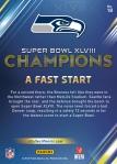 Panini America Seattle Seahawks Super Bowl XLVIII Champions (18a)