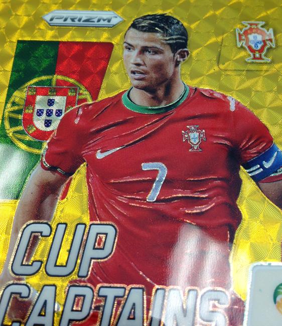 2014 Panini FIFA World Cup Prizm Soccer Ronaldo Gold