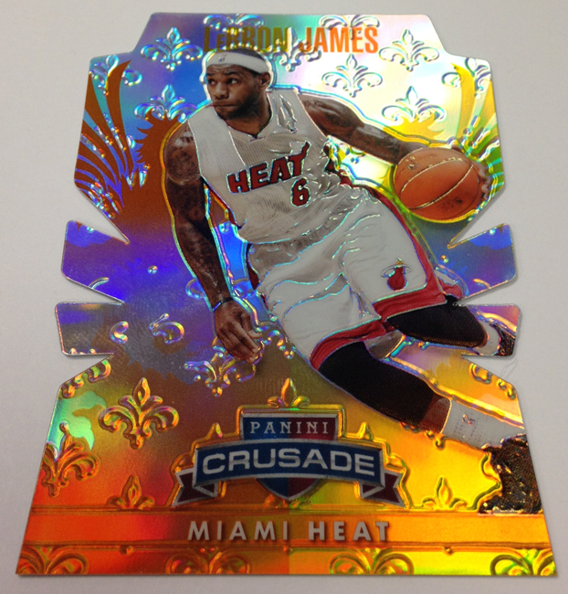 2013/14 Panini Crusade Basketball LeBron James Die-Cut Prizm