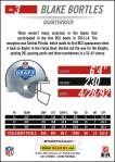 Panini America 2014 NFL Draft Blake Bortles Back