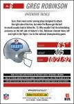 Panini America 2014 NFL Draft Greg Robinson Back
