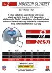 Panini America 2014 NFL Draft Jadeveon Clowney Back